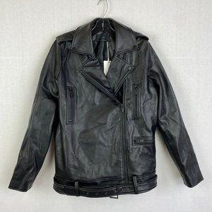 OAK & FORT Vegan Leather Jacket NWT